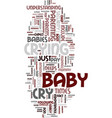 mommy baby when your baby cries text background vector image vector image