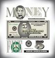 money 5 Five Fade BG vector image vector image