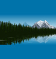 mountain lake landscape vector image vector image