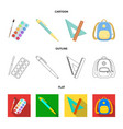 multicolored paints with a tassel pen triangle vector image