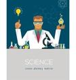 Multitasking Scientist making research vector image
