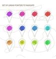 Navigation in city or market vector image vector image