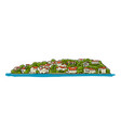old european city mediterranean sea sketch for vector image vector image
