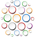 Paper white round notes vector image