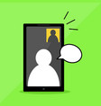 phone series video call vector image vector image