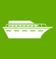 powerboat icon green vector image vector image