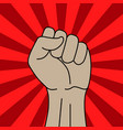 protest symbol power sign vector image vector image
