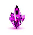 purple crystal realistic volumetric crystal on a vector image vector image