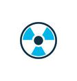 radioactive icon colored symbol premium quality vector image