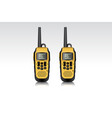 realistic walkie talkie waterproof devices vector image vector image