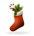 Red Christmas sock vector image