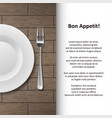 restaurant menu poster design cutlery shop banner vector image