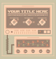retro infographics elements pixel art vector image vector image