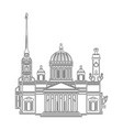 saint petersburg black contour outline cityscape vector image