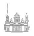 saint petersburg black contour outline cityscape vector image