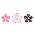 sakura japanese flower icon graphic vector image