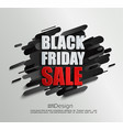 sale banner for black friday on dynamic background vector image vector image