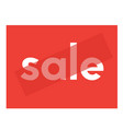 sale poster summer series vector image