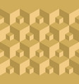 seamless pattern gold 3d cube vector image
