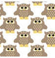 seamless pattern with color owl vector image vector image