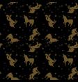 seamless pattern with unicorns and stars in vector image