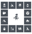 set of 13 editable cleanup icons includes symbols vector image vector image