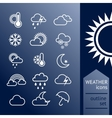 set outline weather icons vector image