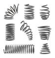 set various shaped metal springs tapering vector image vector image