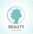 silhouette of a girl in profile template icon or vector image vector image