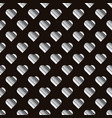 silver hearts seamless pattern texture of vector image