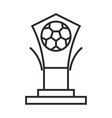 soccer game trophy prize league recreational vector image vector image