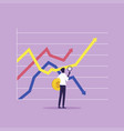 stock exchange trade market analysis vector image