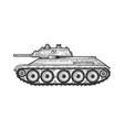 t-34 soviet medium tank sketch vector image