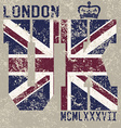 T-shirt Printing design typography graphics London vector image vector image