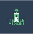 telemedicine icon logo doctor online concept sign vector image vector image