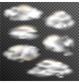 transparent clouds collection various shapes vector image