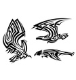 Tribal eagle hawk and falcon vector image vector image