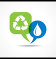 Waterdrop and recycle icon in message bubble vector image vector image