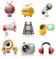 cartoon media icons vector image