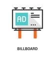 billboard icon concept vector image
