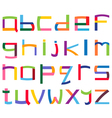 colorful lower case alphabet vector image