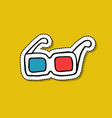 3d glasses doodle icon vector image