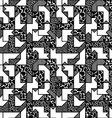 abstract black and white geometric pattern in vector image