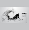 abstract silhouette of a hockey player vector image