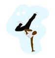 afro man dancing vector image