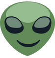 an aliens face emoticon vector image vector image