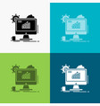 analytics chart seo web setting icon over various vector image vector image