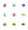 Australia republic icons set pop-art style vector image vector image