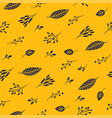 autumn leaves on a yellow backgound seamless patt vector image vector image