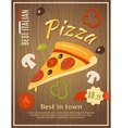 Best Pizza Poster vector image vector image